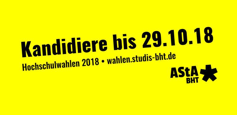 Hochschulwahlen 2018: Kandidiere jetzt!